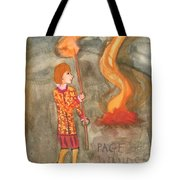 Page Of Wands Tote Bag