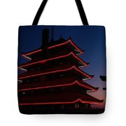 Pagoda At Sunset Tote Bag