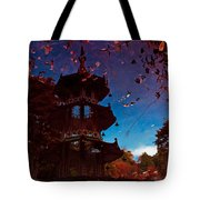 Pagoda Reflection Tote Bag