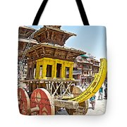 Pagoda-style Carriage In Bhaktapur Durbar Square In Bhaktapur-nepal Tote Bag