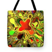 Paint Ball Color Explosion Tote Bag by Andee Design