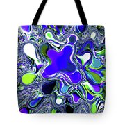 Paint Ball Color Explosion Blue Tote Bag
