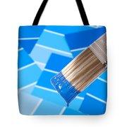 Paint Brush - Blue Tote Bag