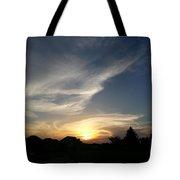 Paint Brush Sunset Tote Bag