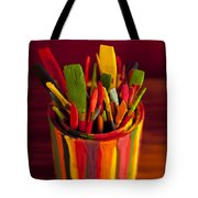 Paint Can And Paint Brushes Still Life Tote Bag