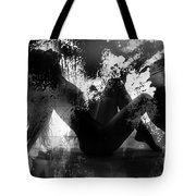 Paint Over Nude Silhouette Tote Bag