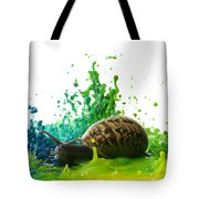 Paint Sculpture And Snail 4 Tote Bag