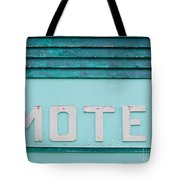Painted Blue-green Historic Motel Facade Siding Tote Bag