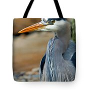 Painted Blue Heron Tote Bag