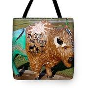 Painted Buffalo Tote Bag
