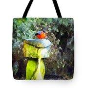 Painted Bullfinch Trio Tote Bag