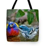 Painted Bunting & Cerulean Warbler Tote Bag