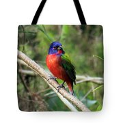 Painted Bunting Photo Tote Bag