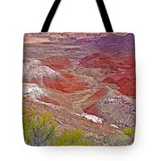Painted Desert From Rim Trail In Petrified Forest National Park-arizona Tote Bag