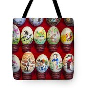 Painted Eggs In China Market Tote Bag