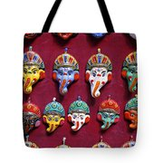 Painted Elephant Souvenirs In Kathmandu Tote Bag
