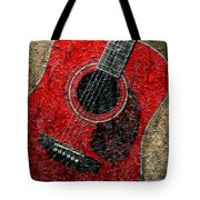 Painted Guitar - Music - Red Tote Bag
