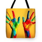 Painted Hands Tote Bag