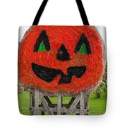 Painted Hay Bale Tote Bag