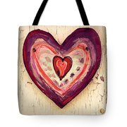 Painted Heart Tote Bag