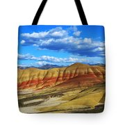 Painted Hills Blue Sky 3 Tote Bag