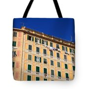 painted homes in Camogli Tote Bag