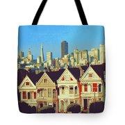 Alamo Square San Francisco - Digital Art Tote Bag