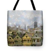 Painted Ladies - San Francisco Tote Bag