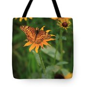Painted Lady With Friends Tote Bag