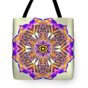 Painted Lotus Xiv Tote Bag