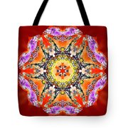 Painted Lotus Xvii Tote Bag