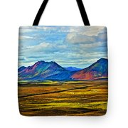 Painted Mountain Tote Bag
