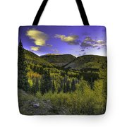 Painted Mountains Tote Bag