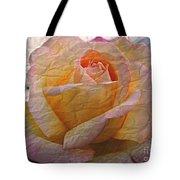 Painted Paper Rose Tote Bag