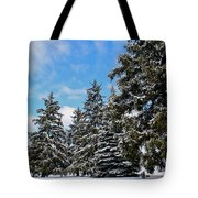Painted Pines Tote Bag