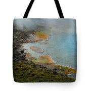Painted Pool Of Yellowstone Tote Bag