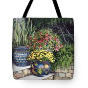Painted Pots Tote Bag