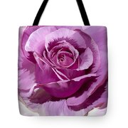 Painted Purple Rose  Tote Bag