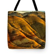 Painted Red And Gold Tote Bag