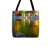 Painted River Tote Bag