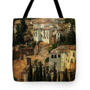 Painted Ronda. Spain Tote Bag by Jenny Rainbow