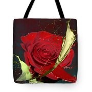 Painted Rose Tote Bag by M Montoya Alicea