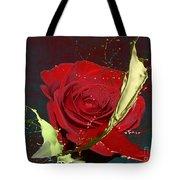 Painted Rose Tote Bag by M Montoya Alicea