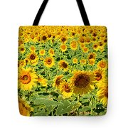 Painted Sunflower Field Tote Bag