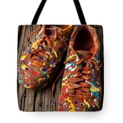 Painted Tennis Shoes Tote Bag