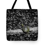 Painted Turtle In A Monochrome World Tote Bag