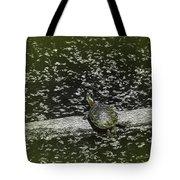 Painted Turtle Sleeping Like A Log Tote Bag