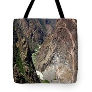 Painted Wall Black Canyon Of The Gunnison Tote Bag