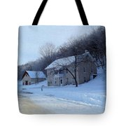 Painted Winter Tote Bag