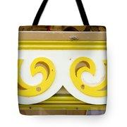 Painted Wood Pattern Tote Bag
